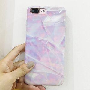 Accessories - NEW iPhone 7/8 Purple Marble Soft TPU Case